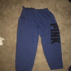 dark blue cropped sweats